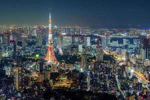 stadsgezicht van tokyo foto