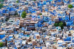 luchtfoto van de stad Jodhpur, Rajasthan, India. foto