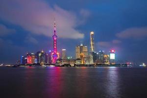 shanghai skyline van de stad, china foto