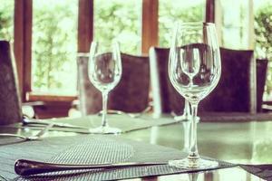 leeg wijnglas