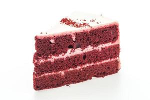 rood fluweel cake geïsoleerd op een witte achtergrond