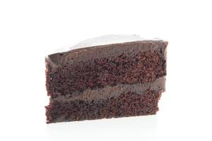chocoladecake geïsoleerd