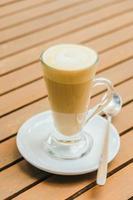 hete latte koffiekopje