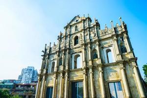 ruïnes van de st.paul-kerk in de stad van macao, china