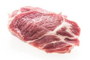 rauw geïsoleerd varkensvlees foto