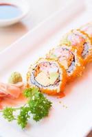 selectief aandachtspunt california roll maki sushi