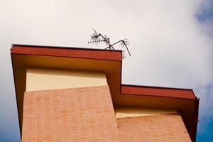 architectuur op het dak in bilbao city, spanje foto