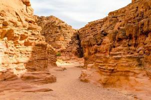 canyon in een woestijn foto