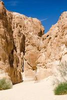 hoge rotsachtige bergen in een woestijn foto
