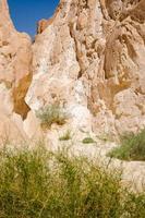 hoge rotsachtige bergen en groene vegetatie foto