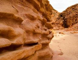 close-up van een canyonmuur foto