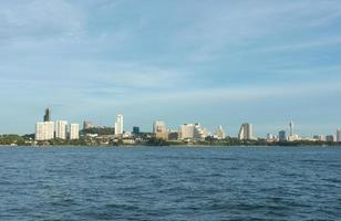 skyline van pattaya thailand foto