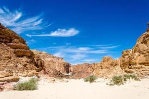 rotsachtig woestijnlandschap foto