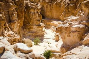 zand en rotsen foto