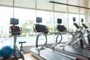 abstracte onscherpte sportschool en fitnessruimte