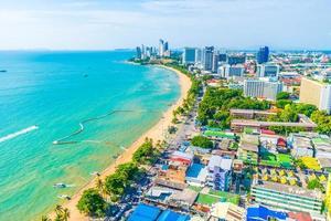 pattaya stad en baai foto