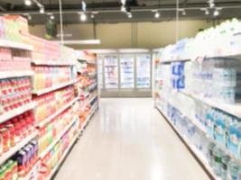 abstracte onscherpte supermarkt