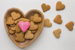 bovenaanzicht van heerlijke valentijnsdagkoekjes