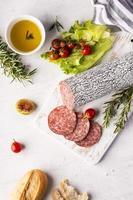 bovenaanzicht voedsel lay-out concept met kopie ruimte