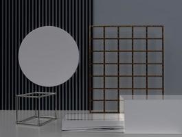 3D-rendering abstracte geometrische vorm achtergrond
