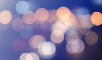 bokeh cirkelvormig licht, sprankelend verkeerslichtglinstering
