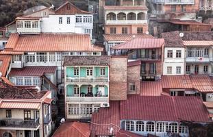 oude woonwijk in Georgië foto