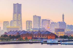de skyline van de stad yokohama, japan