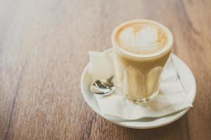 hete latte koffie
