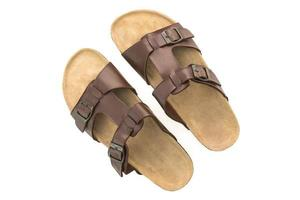 heren lederen sandalen en flip flop schoenen foto
