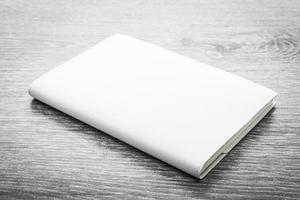 lege witte mock-up boek foto