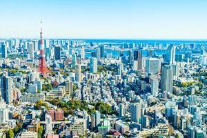 tokyo stadsgezicht in japan foto
