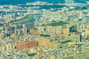 stadsgezicht van de stad van taipei in taiwan