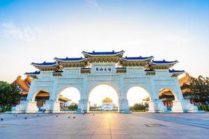 chiang kai-shek herdenkingshal in de stad taipei, taiwan