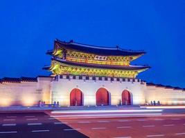gyeongbokgung-paleis, de stad van seoel in zuid-korea