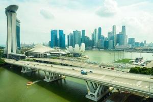 singapore skyline van de stad foto
