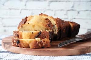 close-up van cake op snijplank foto