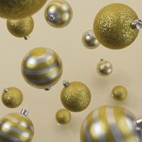gouden kerst ornamenten achtergrond foto