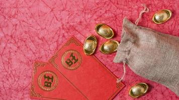 Chinees Nieuwjaar concept, rode achtergrond foto