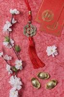 Chinees Nieuwjaar concept rode achtergrond foto