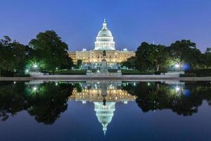 het verenigde standbeelden capitol gebouw, washington dc, usa. foto