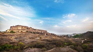 mehrangarh fort in jodhpur, rajasthan, india foto