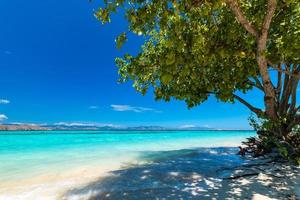 uitzicht op een mooi tropisch strand foto