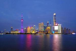 shanghai skyline van de stad, shanghai, china foto