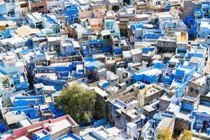 luchtfoto van de stad Jodhpur, Rajasthan, India foto
