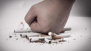 de strijd tegen nicotineverslaving foto