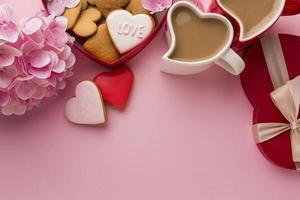 Valentijnsdag grens met kopie ruimte foto