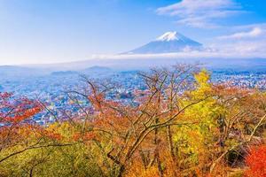 landschap op mt. fuji in de herfst, japan foto