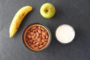 gezond voedsel bovenaanzicht foto