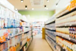 abstract onscherpte en onscherpe supermarkt interieur foto