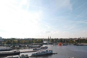 amsterdam, nederland 2015- luchtfoto van holland port foto